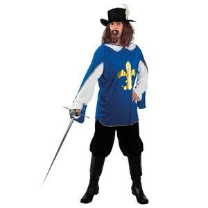 DÉGUISEMENT - PANOPLIE BOLAND BV Bleu Mousquetaire Hommes médiévale Dégui