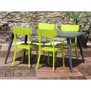 Salon de jardin MICA anthracite - Couleur - Vert - Achat / Vente ...
