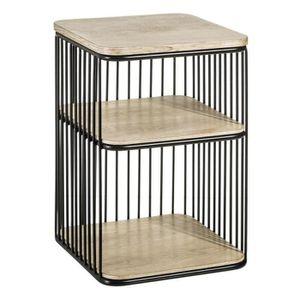 TABLE D'APPOINT Table d'appoint 1 étagère Bois/Métal - BRUTUS n°3