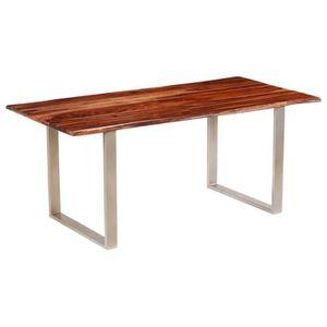 TABLE À MANGER SEULE vidaXL Table de salle à manger Bois massif de Sesh