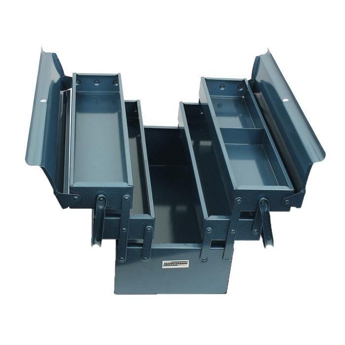 MANNESMANN Caisse à outils vide - 5 compartiments - 430 x 200 x 200 mm