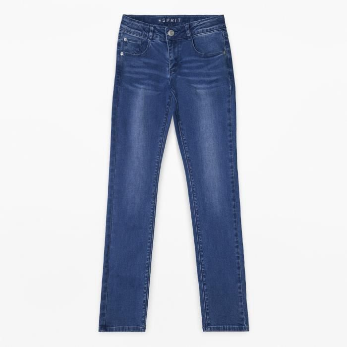 ESPRIT Pantalon Jean Denim Délavé Bleu Enfant Fille