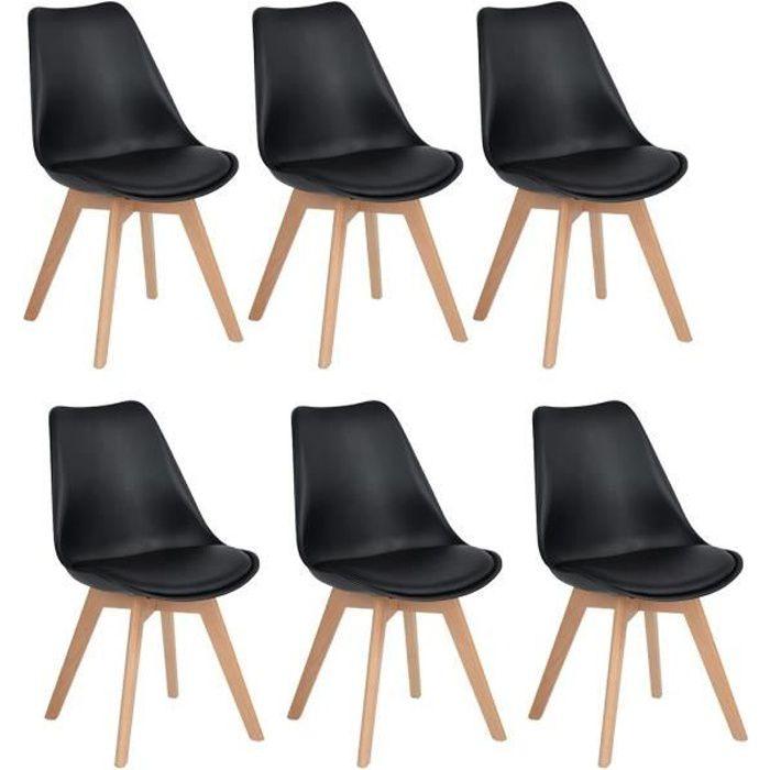 Jkk Lot De 6 Chaises Design Contemporain Nordique Scandinave Tulipe