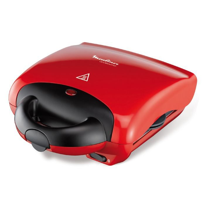 MOULINEX SW281512 Gaufrier multifonction Accessimo - Rouge - Achat ...