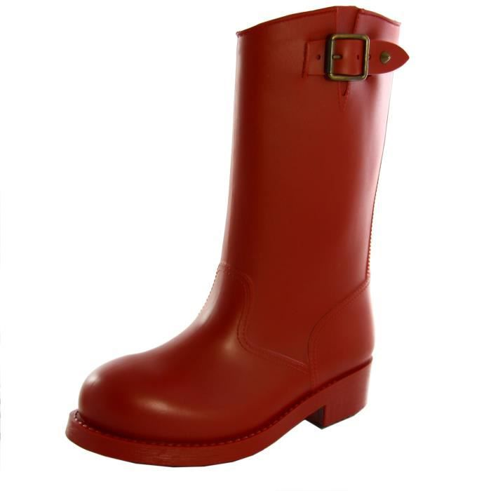 bottes mi BIKE motardes DIESEL pluie rouge brique femme de B wACPv5q