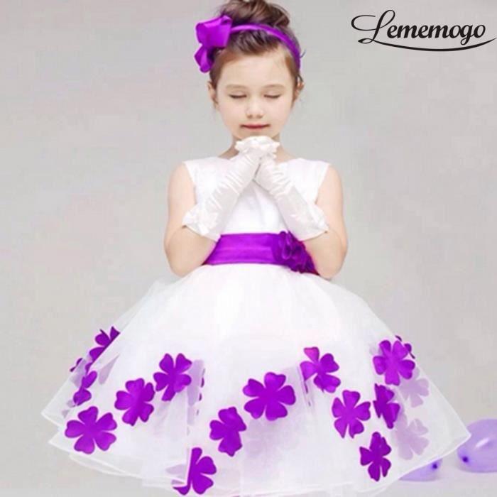 Robe de princesse soirée pour les filles Fleurs 2016 Violet