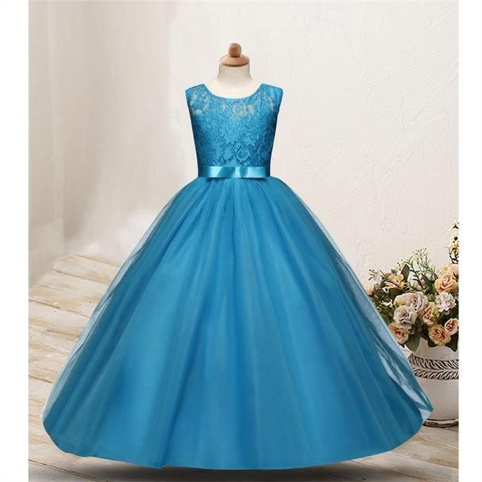 Robe princesse pour petite fille, bleu