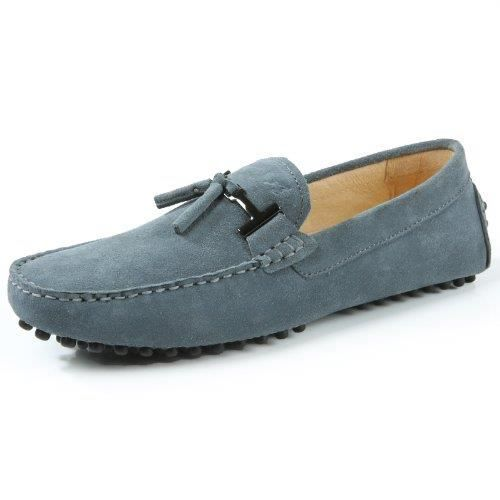 Ausland Mocassins Casual, Suede Moccasin, Slip-on Chaussures de conduite, 7157 ENYVV Taille-41