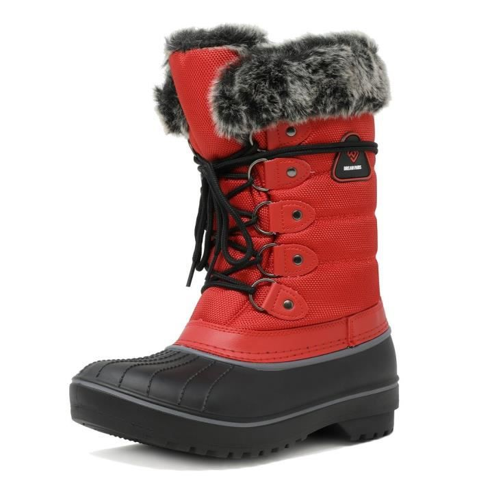 Dp-canada Faux Fur Lined Mid Calf Winter Snow Boots UFADP Taille-37