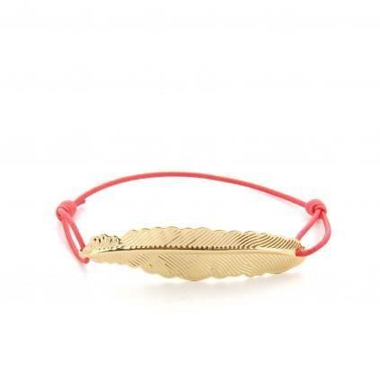 Bracelet avec pendentif plume