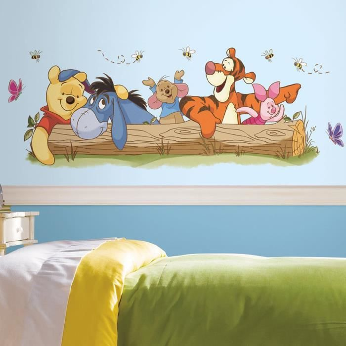 stickers g ant winnie l 39 ourson et ses amis disney achat vente stickers cdiscount. Black Bedroom Furniture Sets. Home Design Ideas