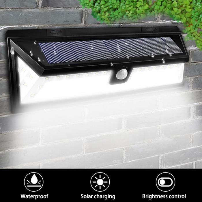 TEMPSA 54LED applique exterieure solaire pour allee de jardin étanche 3.7V  2200mAH
