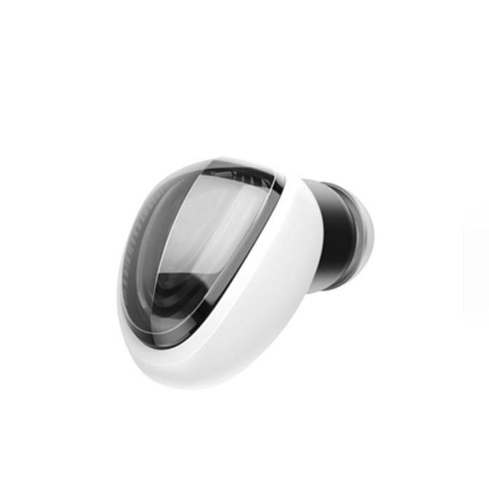 Mini-écouteur Bluetooth À Oreille Unique Sans Fil Avec Boîte De Charge Blanc