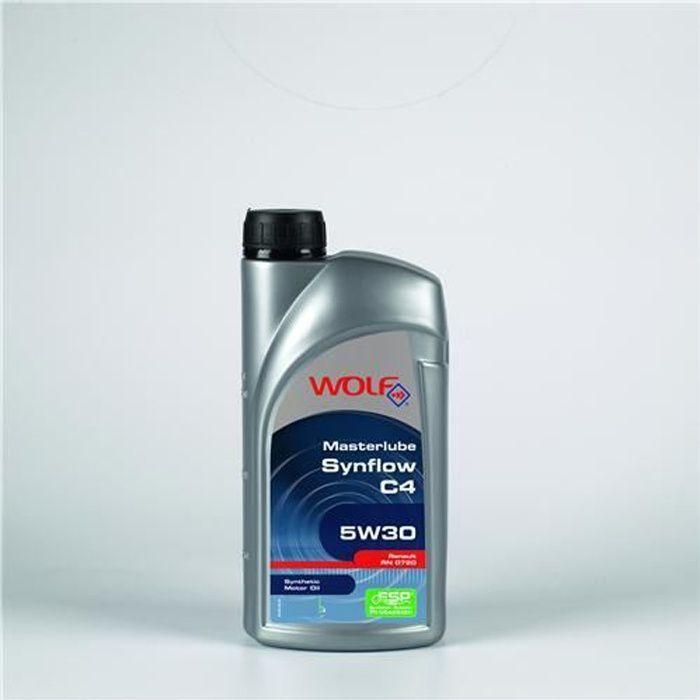 HUILE MOTEUR Bidon 5 litres d'huile 5w30 C4-10 Wolf SYNFLOWC…