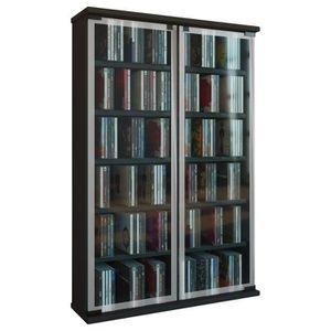 meuble rangement cd noir achat vente pas cher. Black Bedroom Furniture Sets. Home Design Ideas