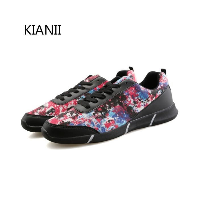 Baskets Homme Chaussures de sport Camouflage chaussures Noir BY8wG6ly
