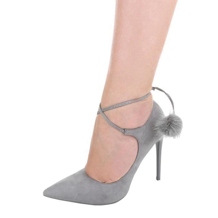Chaussures femmes Escarpins Slingbacks avec or décoration Beige 1AapnYc