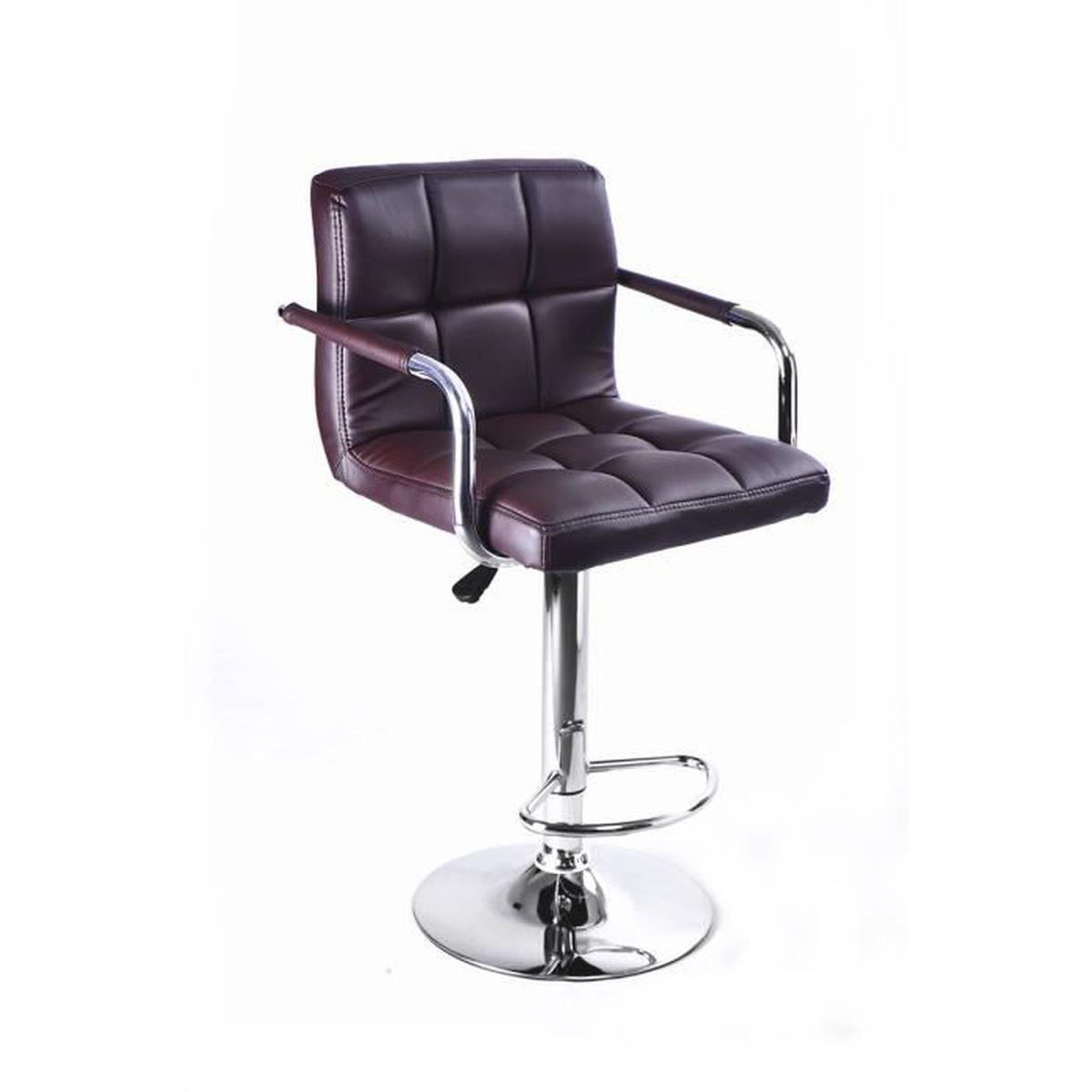 1pc tabouret de bar carreaux avec accoudoir chaise. Black Bedroom Furniture Sets. Home Design Ideas