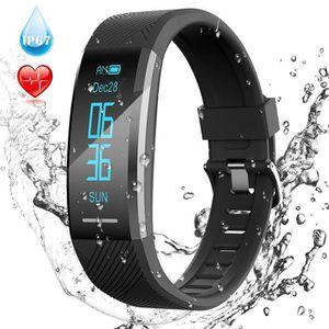 Montre Connectée Etanche IP67 Fitness Tracker d'Activité avec Cardiofréquencemètre-Podomètre-Sommeil Bracelet Intelligent Bluetooth