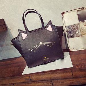 SAC À MAIN Mme chat épaule sac à main noir sacs à main en dia