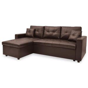 Canapé Convertible Marron Achat Vente Canapé Lit Pas Cher - Acheter divan