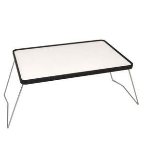 TABLE BASSE Tablette de lit pliante en bois | Couleur: blanche