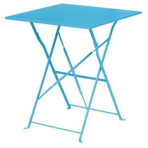 MANGE-DEBOUT Boléro Mer Table Bleu Pavement style acier carrée