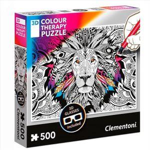 PUZZLE CLEMENTONI - Puzzle 500 pièces à colorier - Puzzle