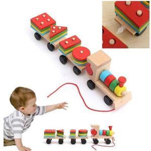 PUZZLE EXBON® jouet Train en bois enfant bébé Éducation c