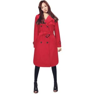 Femme Cher Vente Achat Trench Pas Rouge zqdfwO