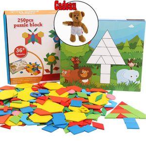 PUZZLE OLALI® Éducatifs 250 Pcs 3D Puzzle En Bois Blocs d