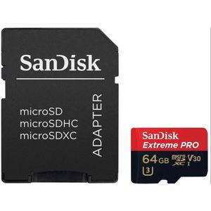 CARTE MÉMOIRE Carte Mémoire microSDXC SanDisk Extreme PRO 64 Go