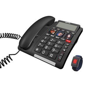 Téléphone fixe Téléphone sénior Fixe TF560 SWITEL - Grand écran a