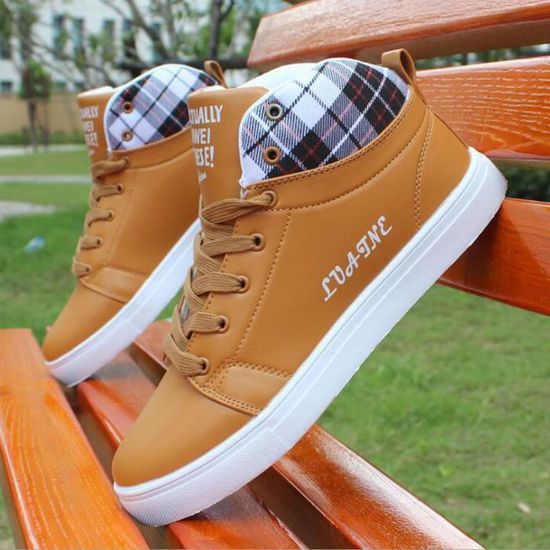 a854b0549dd Basket Chaussures Chaussure Shoes Montantes Marron Homme Skate Mode ZIITrqP