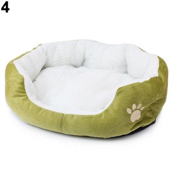 683847 Hiver Chaud Chien Chat Chiot Mode Confortable Doux Pad Lit Coussin Pour Animaux Tapis Vert