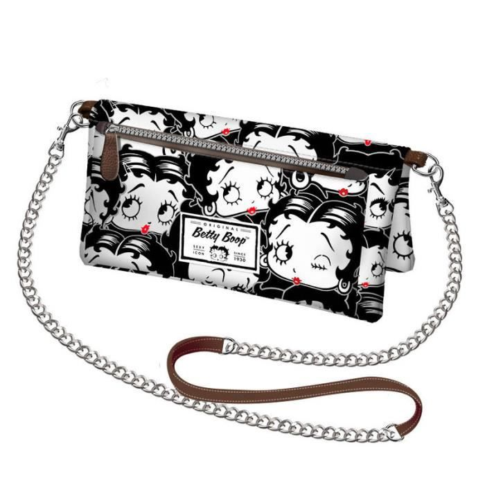 Betty Boop Sac Portefeuille Avec Chainette Betty Boop In Black