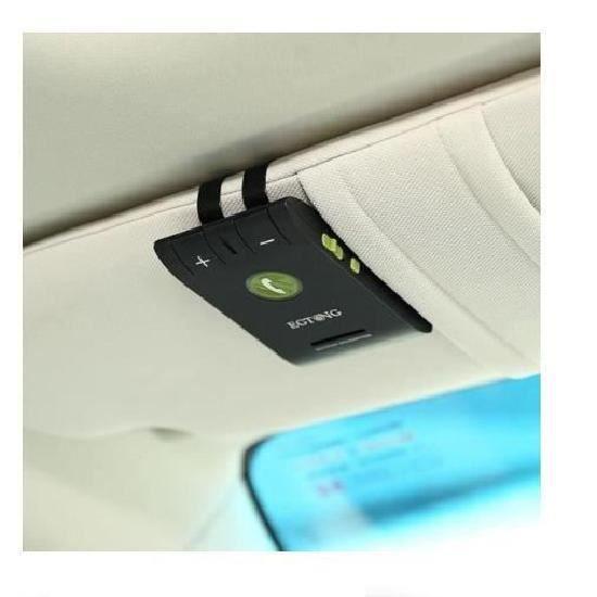Bluetooth Kit main libre voiture pour pare-soleil(noir)