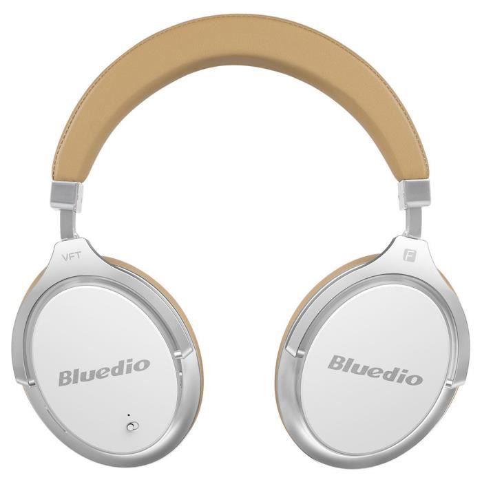 Bluedio F2 (foi) Casque Bluetooth Sans Fil D'annulation Active Du Bruit Avec Microphone (blanc-brun)