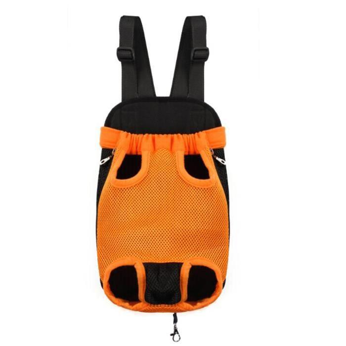 Sac De Transport Ventral Poitrine Pour Animaux Chien Chat- Taille Xl-orange