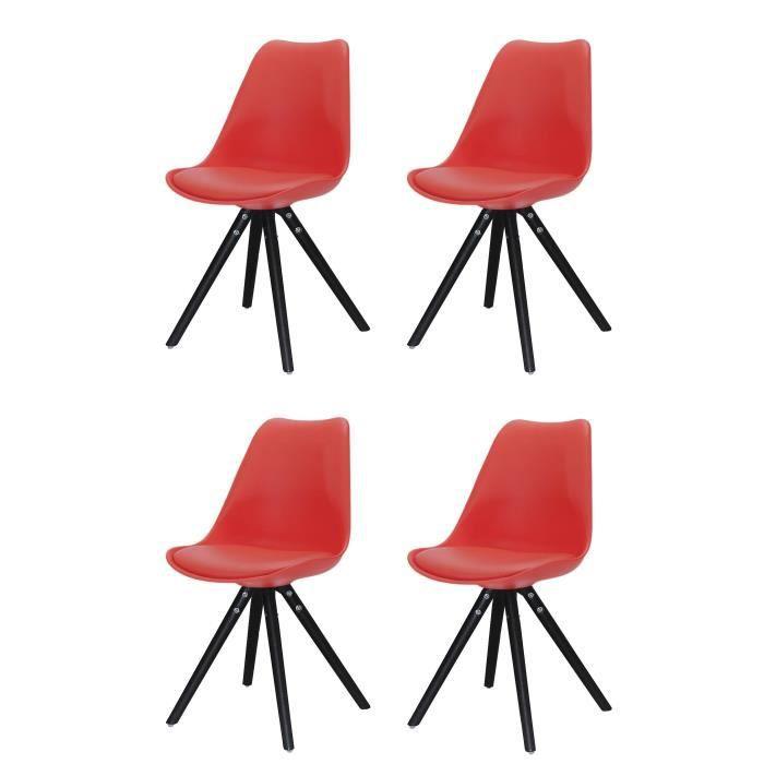 CHAISE CLARA Lot de 4 chaises de salle à manger - Simili