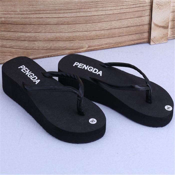 chaussure femme branché pantoufle salle de bain respirant sandales d'été marque femme tongues chaussures de plage femmes 2017