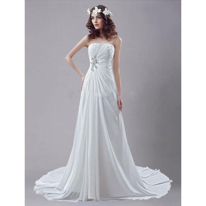 cd6531a271945 Robes de Mariée Mariage Cérémonie Femme Bal Bustier Maxi Pas Chère Longue