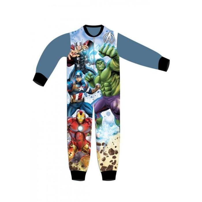 da0991ec457d0 Pyjama polaire AVENGERS combinaison grenouillère enfant garçon super héros