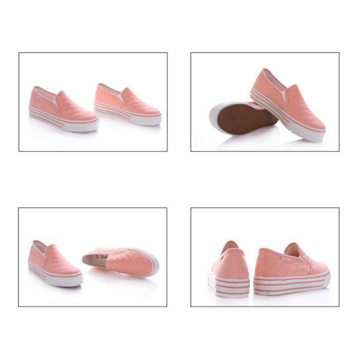 Chaussure Femme Printemps Été Comfortable plate Chaussures BMMJ-XZ068Rose35