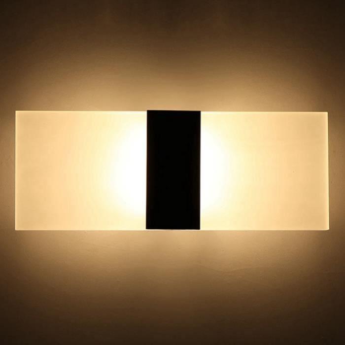 Noir Décorative Au 11 Murale 29 De Lampe Bains À Droit lumière angle Led Applique Ohl Chaude Avec Lit 0wnq866p