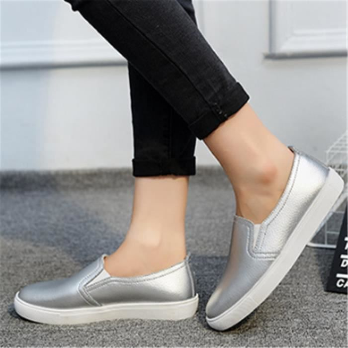 Chaussures Femmes ete Loafer Ultra Leger Chaussures DTG-XZ052Gris36 WmCUx