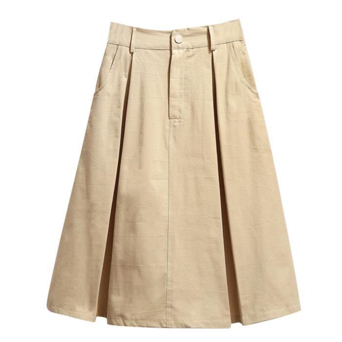 Mot Section Sco2039 Taille Haute Solide Mode Summer À Long coréen Femme Nouvelle Jupe x1SwPFqx