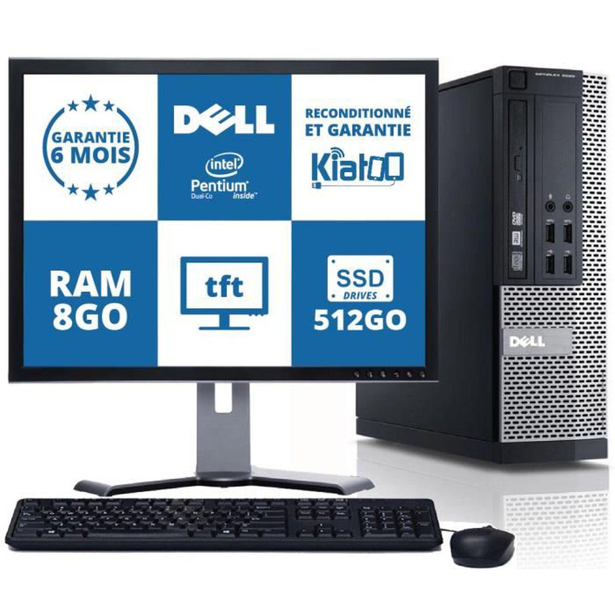 d931fe5fcff23c UNITÉ CENTRALE + ÉCRAN ordinateur de bureau dell optiplex 790 dual core 8