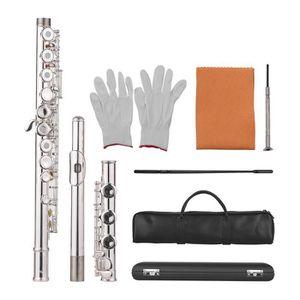 FLÛTE TRAVERSIÈRE KKmaison 17 Trous Concert C Flute Pores ouverts -