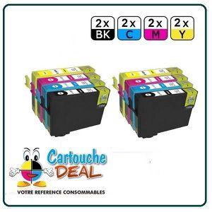 CARTOUCHE IMPRIMANTE x8 Epson S22 SX125 SX130 SX230 Cartouche générique